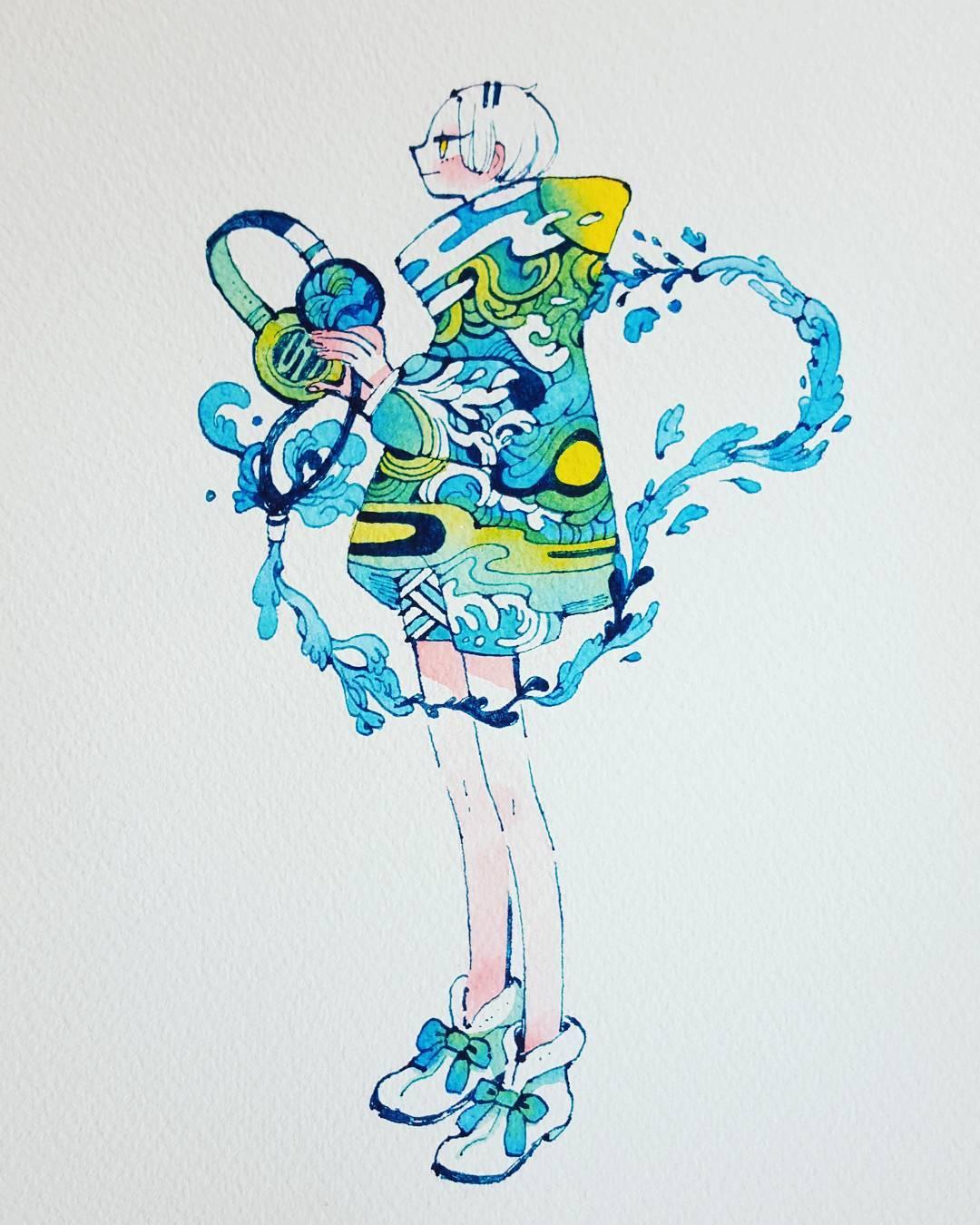 植物拟人化萌萌哒可爱插画